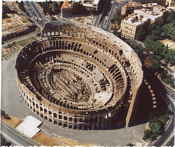 Чудо света амфитеатр Колизей в Италии Чудеса света рим колизей
