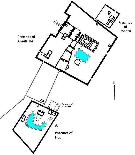 храм амона в карнаке план