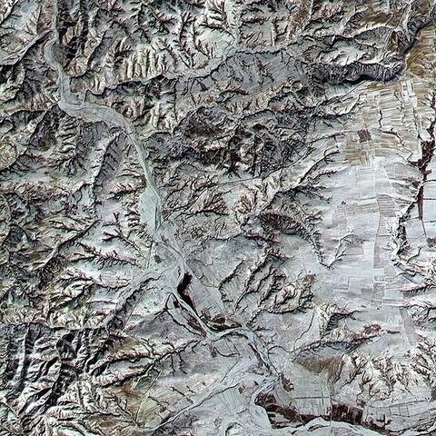 великая китайская стена вид из космоса