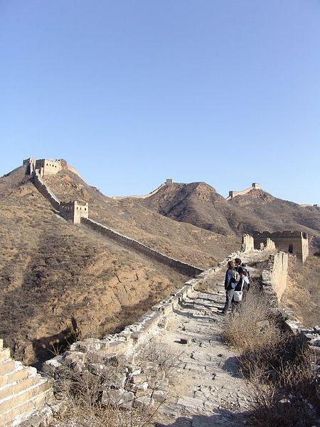 Невосстановленный участок - великая китайская стена фото