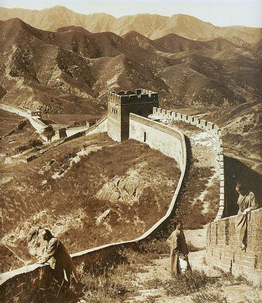 Фото 1907 года - великая китайская стена история